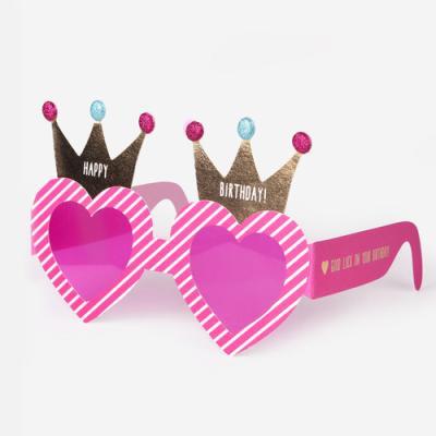 핑크 안경 해피버스데이 메시지 카드