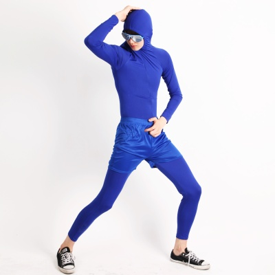 쫄쫄이의상 (반바지 포함) -블루