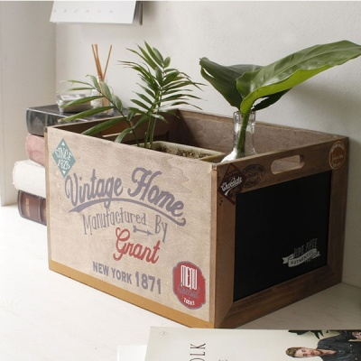 [2HOT] 빈티지 홈 메이드 박스