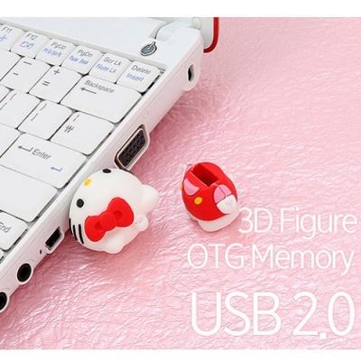 헬로키티 3D 피규어 OTG USB 메모리 64GB