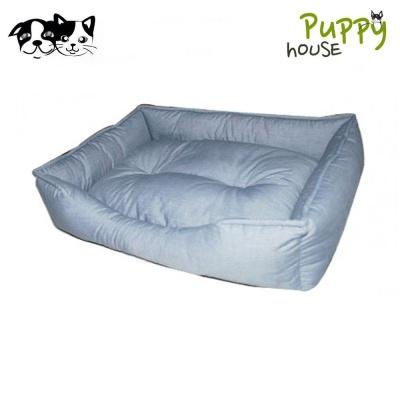 퍼피하우스 사각 강아지 방석 (청색)