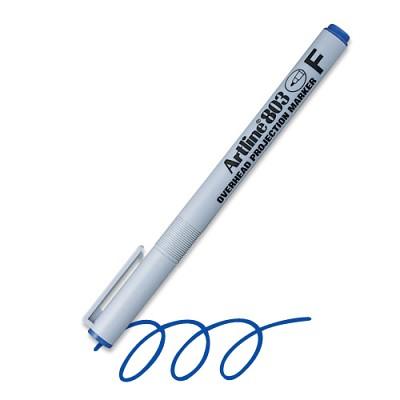 [아트라인]OHP 전용펜(물펜) F(0.5mm) EK-803 (청 적)