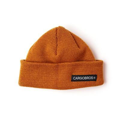 CARGOBROS - CB LOGO SHORT BEANIE (BROWN)