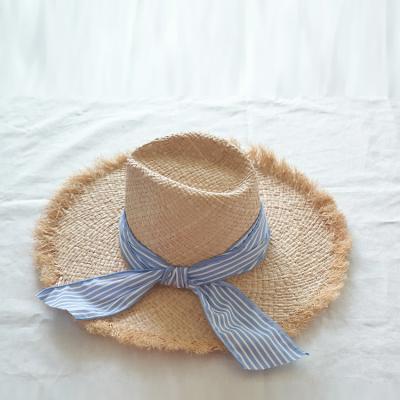 Raffia Blue Fedora Hat