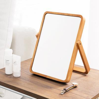 우드 접이식 스탠드 탁상 인테리어 화장 화장대 거울