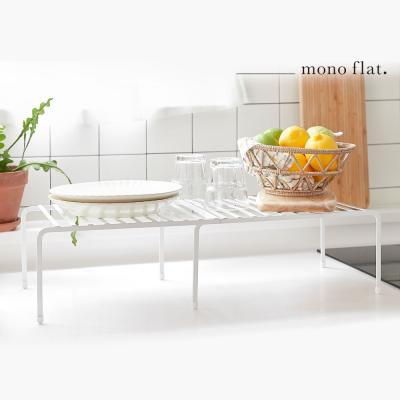 모노플랫 확장형 2단 그릇 정리대 1입 접시 컵 거치대