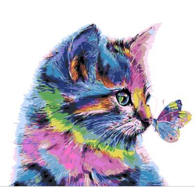 아이엠미니 DIY 별빛 명화그리기 30x40_나비와 고양이