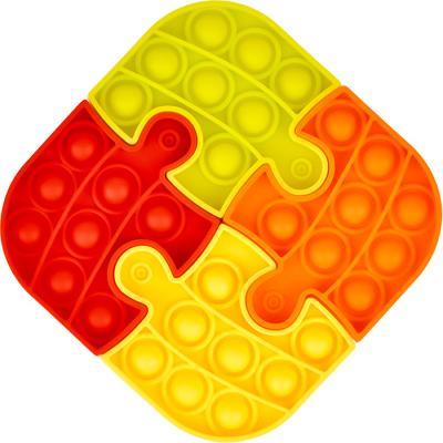 4조각 푸쉬 팝 퍼즐 - 사각