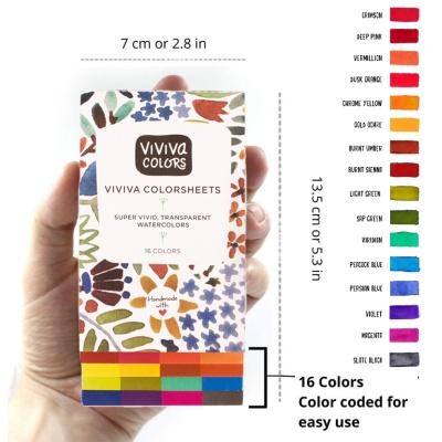 비비바 오리지날 슈퍼 비비드 컬러시트 16색 단품