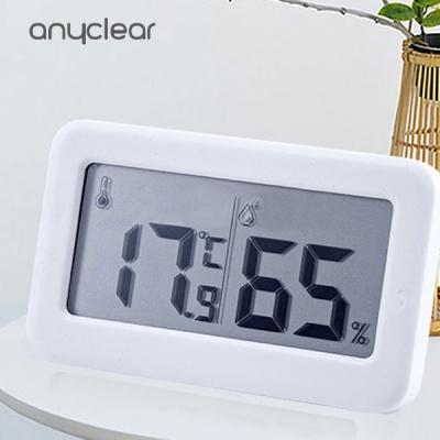 애니클리어 온습도계 일반형 시계형 디지털 시계 LCD