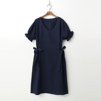 Linen Cotton Ribbon Dress