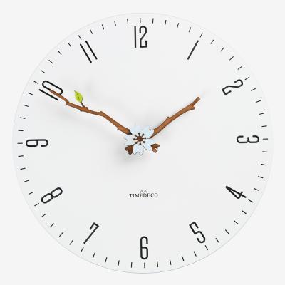 [하이모리] 타임데코 플로랄 리프 벽시계 [인테리어]