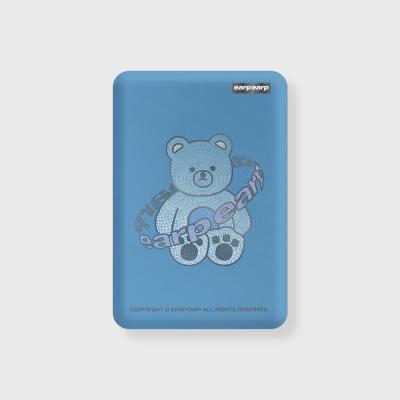 Twinkle gem bear-blue(무선충전보조배터리)