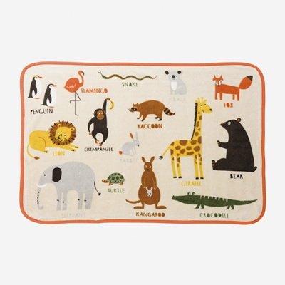 (Paquet) Toile Blanket - Zoo