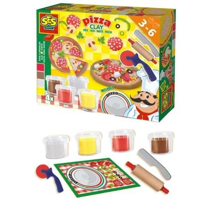 아동 음식 피자 만들기 놀이 선물 점토 클레이 세트