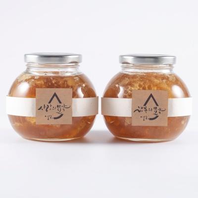 [엘림농원] 벌집꿀 생꿀 520gx2ea (선물포장)