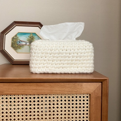 뭉게구름 티슈 커버 만들기 - 코바늘 뜨개질 키트