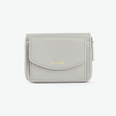 REIMS W016 Zipper poket Wallet Light Grey
