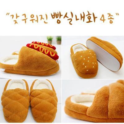 [HICKIES] 빵모양 슬리퍼/털실내화