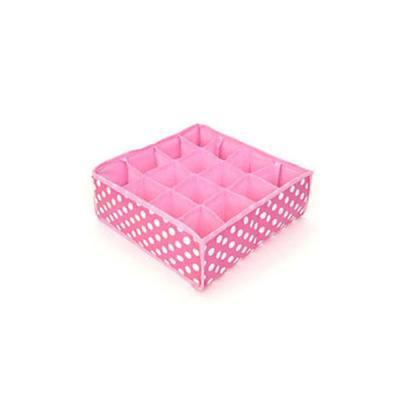 키친아트 속옷정리함 땡땡이 핑크(16칸)