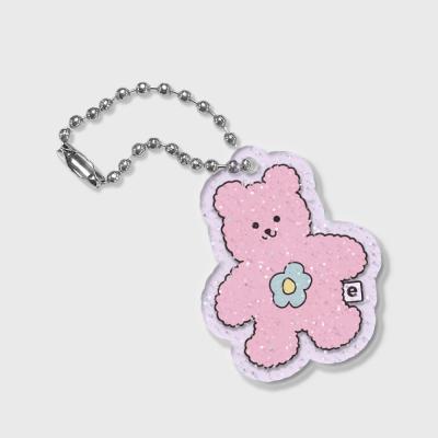 Blossom bear friends-pink(글리터키링-퍼플)
