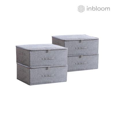 인블룸 4개세트 패브릭 수납박스 소형 그레이