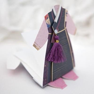 카드/축하카드/감사카드/연하장 한음색동카드 FT304-3