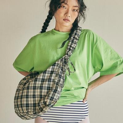 Shirring shoulder hobo bag_check