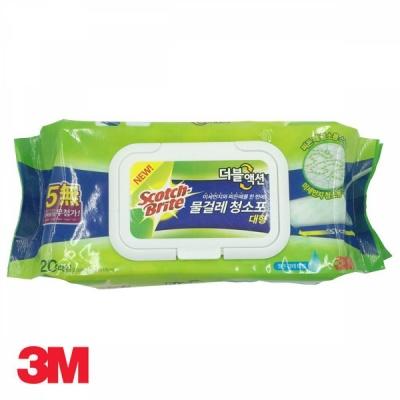3M 물걸레 청소포 더블액션 대형 20매
