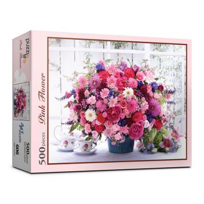 500피스 핑크 꽃다발 직소퍼즐 PL606