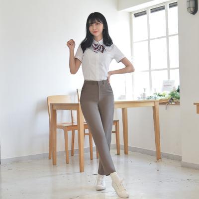 [빅사이즈] 하복 스판 코코아 교복바지(여자) ~6XL