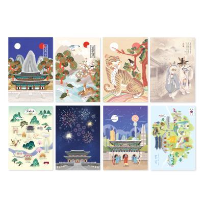 500 한국 엽서세트4(8개)