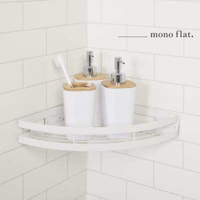 모노플랫 ctrl+v 무타공 다용도 코너 선반 1입 욕실