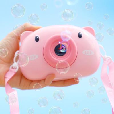 카메라 비눗방울 자동 버블건 (핑크돼지)
