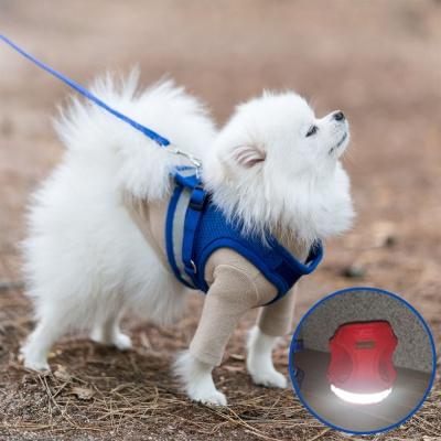 미즈펫 강아지 하네스 가슴줄 리드줄 블루