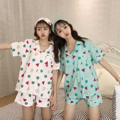 여름 반팔 반바지 파자마 세트 홈웨어 여자 잠옷 패션
