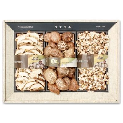 [Premium Gift] 무농약 참나무 원목 버섯 선물세트