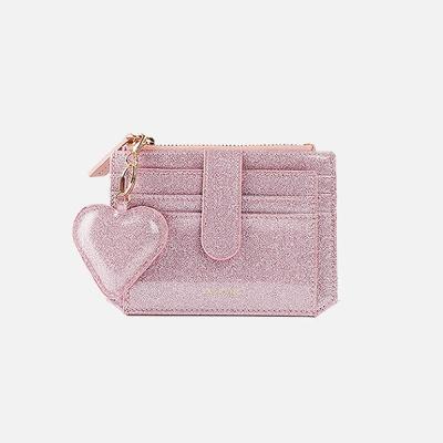301S Flap mini Card Wallet pink pearl