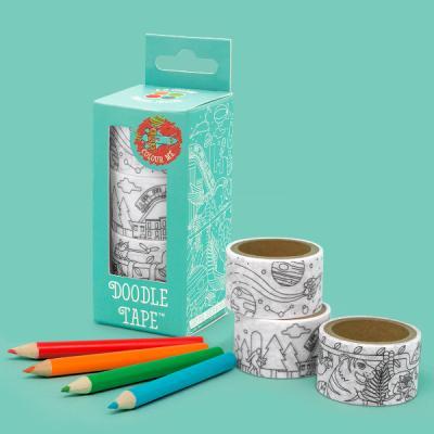[원더스토어] 럭키스 색칠 마스킹 테이프 + 색연필