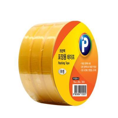 [프린텍] P1520-3_포장용 테이프 3롤/투명 /15mmx20m