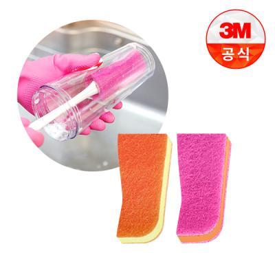[3M]보틀 수세미용 리필_플라스틱용(1입)+스테인레스용(1입)