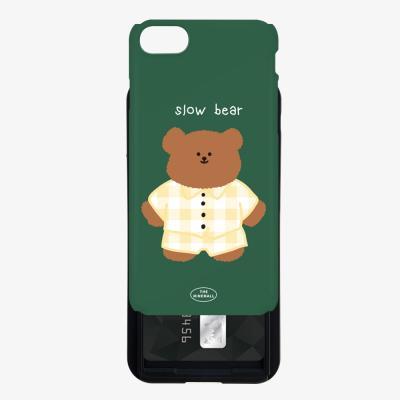pajamas khaki slow bear 카드슬라이드 케이스