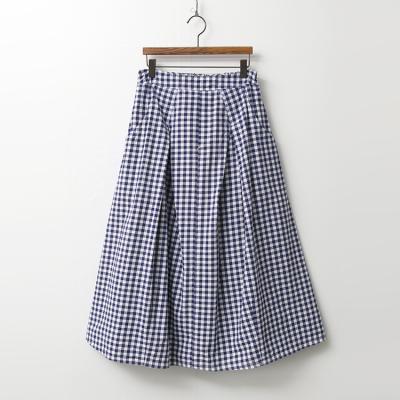 Gingham Check Full Long Skirt