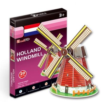 세계유명건축물 입체퍼즐 네덜란드풍차 미니