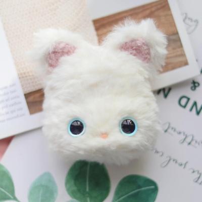 에어팟 1 2 고양이 인형 실리콘 털 케이스_화이트 507