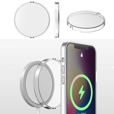 아이폰 맥세이프 무선충전기 클리어 투명 하드 케이스