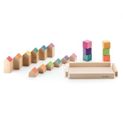 오카모라 하우스 블럭 쌓기 발도로프교구 유아장난감