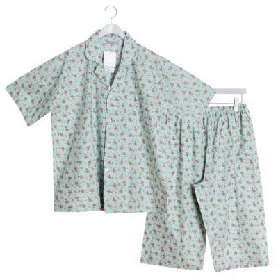[쿠비카]남성 반팔 카라넥 순면잠옷 세트 M141