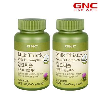 [GNC] 밀크씨슬 위드 B 콤플렉스 (60정) 30일분 x2병