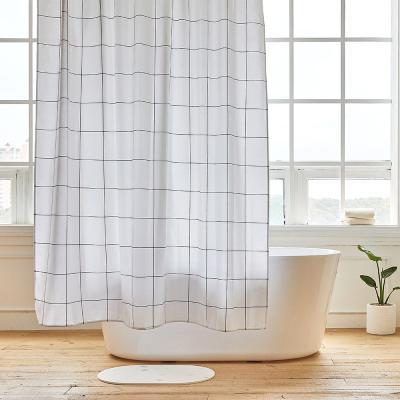 그리드 욕실 샤워커튼 디자인패브릭 방수 가림막 커텐